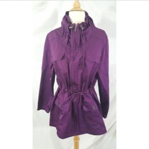 Additions by Chico's Purple Irridescent jacket 2 L